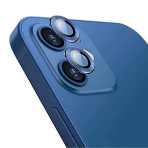 Voor iPhone 12 / 12 mini ENKAY Hat-Prince Aluminium Alloy + Tempered Glass Camera Lens Cover Full Coverage Protector(Blauw)