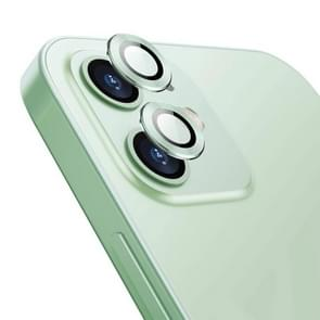 Voor iPhone 12 / 12 mini ENKAY Hat-Prince Aluminium Alloy + Tempered Glass Camera Lens Cover Full Coverage Protector(Groen)