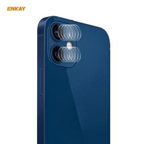 5 Set Voor iPhone 12 / 12 mini ENKAY Hat-Prince 0.2mm 9H 2.15D Round Edge Camera Lens Tempered Glass Film 2 PCS/Set