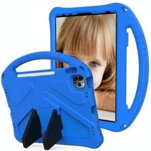Voor iPad Air (2020) 10.9 EVA Flat Anti Falling Protective Case Shell met Holder(Blue)