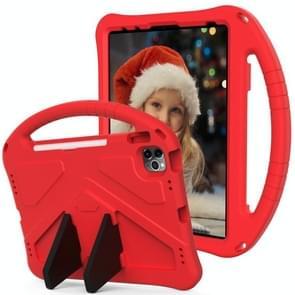Voor iPad Air (2020) 10.9 EVA Flat Anti Falling Protective Case Shell met Holder(Red)
