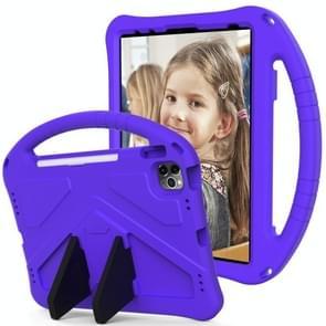 Voor iPad Air (2020) 10.9 EVA Flat Anti Falling Protective Case Shell met houder (paars)