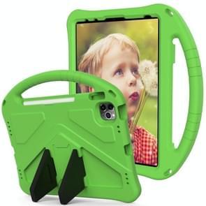 Voor iPad Air (2020) 10.9 EVA Flat Anti Falling Protective Case Shell met Holder(Green)