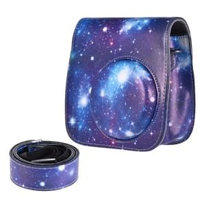 Universum patroon full body camera PU lederen draagtas met riem voor FUJIFILM Instax Mini 9/Mini 8 PLUS/Mini 8