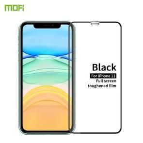 Voor iPhone 11 MOFI 9H 2.5 D volledig scherm gehard glas film (zwart)