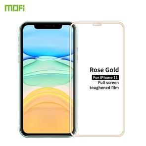 Voor iPhone 11 MOFI 9H 2.5D Full Screen Tempered Glass Film (Roségoud)
