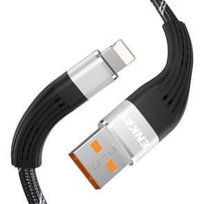 ENKAY ENK-CB201 vissen netto weven USB naar 8 pin gegevensoverdracht oplaadkabel (zilver)