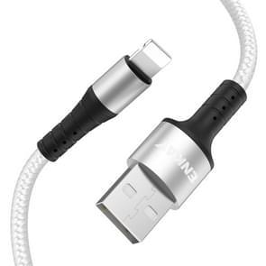 ENKAY ENK-CB202 Nylon Weven USB naar 8 Pin Data Transfer Oplaadkabel (Zilver)