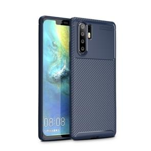 For OPPO A91 Carbon Fiber Texture Shockproof TPU Case(Blue)