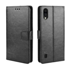 For ZTE Blade A5 2020 Retro Crazy Horse Texture Horizontal Flip Leather Case with Holder & Card Slots & Photo Frame(Black)