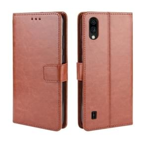 For ZTE Blade A5 2020 Retro Crazy Horse Texture Horizontal Flip Leather Case with Holder & Card Slots & Photo Frame(Brown)