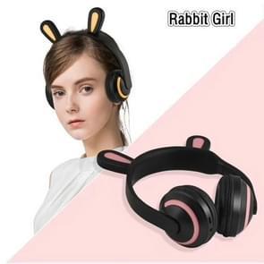 ZW19 LED 7 Kleuren licht Bluetooth Stereo Draadloze Hoofdtelefoon Cat Oor knipperende Gloeiende Gaming Headset oortelefoon (Rabbit Girl)