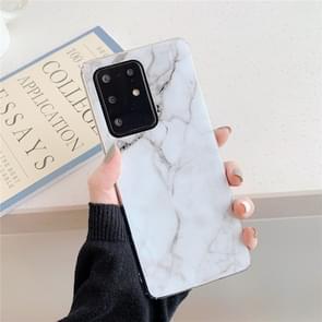 Voor Galaxy A71 Hoge kwaliteit TPU Smooth Marbled IMD mobiele telefoon geval (Witte F6)