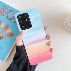 Voor Galaxy A71 Hoge Kwaliteit TPU Gladde gemarmerde IMD mobiele telefoon case (Rainbow F16)