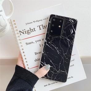 Voor Galaxy A71 Hoge kwaliteit TPU Smooth Marbled IMD mobiele telefoon geval (Zwarte F30)
