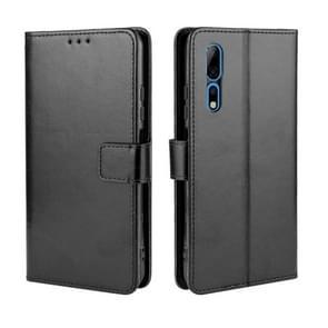 Voor ZTE Axon 10 Pro/Axon 10 Pro 5G/A2020 Pro Retro Crazy Horse Texture Horizontal Flip Leather Case   met Holder & Card Slots & Photo Frame(Black)