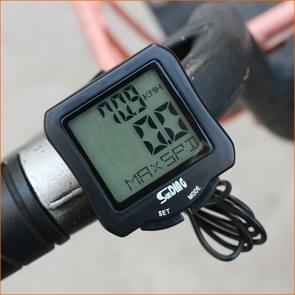 SUNDING SD-570 Fietssnelheidsmeter Fietscomputer LCD Digital Display Waterproof Kilometerteller Stopwatch