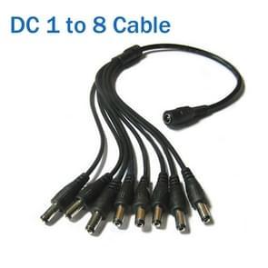 Power Supply kabel DC 1 tot en met 8 Power Splitter Adapter Cable voor Security CCTV Camera