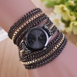 Sloggi vrouwen cirkel legering armband quartz horloge (zwart)