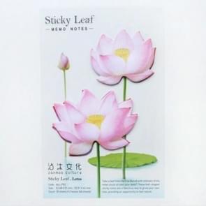 3 PC'S kleine verse bloemen en bladeren serie van post-it notities romantische Lotus Notes roze 2 Lotus
