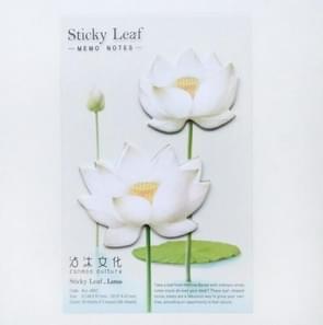 3 PC'S kleine verse bloemen en bladeren serie van post-it notities romantische Lotus Notes wit 2 Lotus