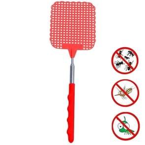 Creatieve intrekbare plastic Fly Swatter Zomer Supplies Mosquito Swatter (Rood)