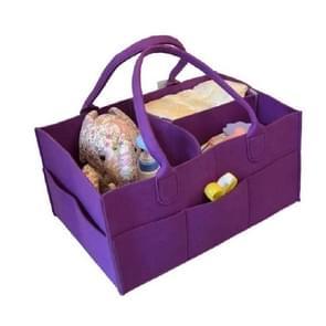 Mummie tas opslag multifunctionele moederschap handtassen organisator wandelwagen accessoires  grootte: 33x23x18cm  kleur: paars