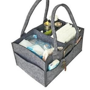 Mummie tas opslag multifunctionele moederschap handtassen organisator wandelwagen accessoires  grootte: 33x23x18cm  kleur: grijs