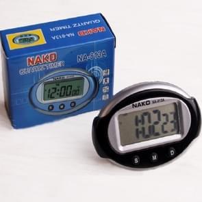 2 PCS Draagbare Auto Elektronische Klok Test Sportklok Kleine Wekker Stopwatch (Ovaal)