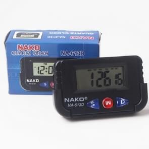 2 stks draagbare auto elektronische klok test sport klok kleine wekker stopwatch (rechthoek)