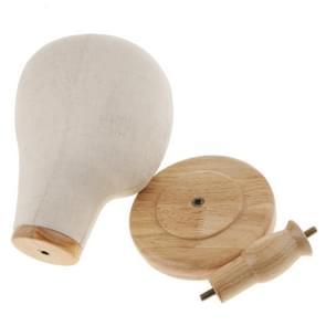 Haar pruiken extensie maken hoeden Caps Canvas Cork blok Mannequin Head Model afneembare houten pruik schermstandaard
