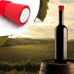 Food grade siliconen wijn stopper creatief behoud fles stopper (rood)