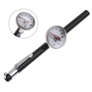 2 stuks sonde type huishoudelijke voedsel thermometers voor het meten van vloeibaar voedsel (zilver zwart)