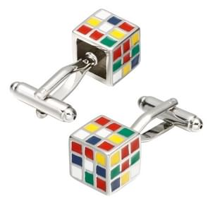 1 Pair Colorful Cube Cufflinks for Men