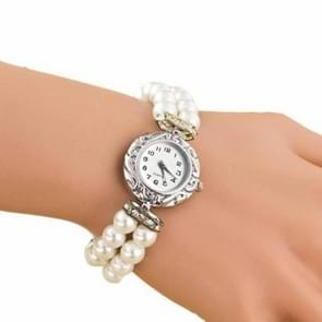 DENTON SIDPEGA vrouwen Pearl Quartz armband horloge (wit)