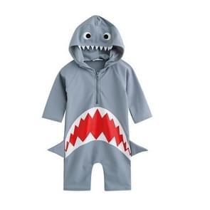 Blauwe dierlijke haaien zwempak Baby jongen badpak Uv bescherming pak  Size:L(BLUE)