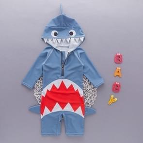 Blauwe dierlijke haaien zwempak Baby jongen badpak Uv bescherming pak  Size:XS(BLUE)