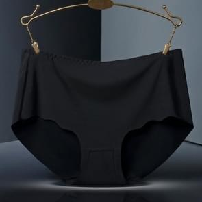 Ijs Silk sSeamless katoen bestand dames ondergoed slips  maat: L (zwart)