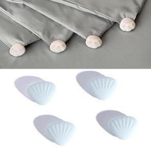 4 PCS / Set Gewatteerde antislip gesp op Four Corners Safe Needleless Quilt Holder (Shell)