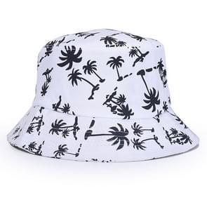 Mannen vrouwen Bucket Hat Cap lente zomer voor strand vissen buiten jacht (wit)