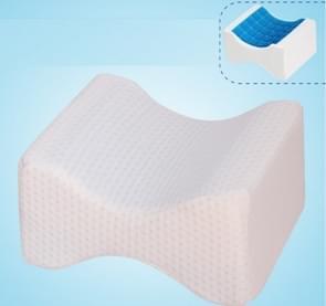 Orthopedische Memory Foam knie wig kussen voor slapen ischias terug heupgewricht Pain Relief Contour dij been Pad Support kussen de omkeerbare gel + wit