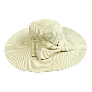 Meisjes grote brede rand Vintage Floppy zomer strandsporten Cap stro hoed zomer reizen Hat(Beige)