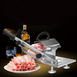 Gelegeerd roestvrijstaal huishoudelijke handleiding dikte verstelbare vlees groenten slicer vlees slicing machine (Sliver)
