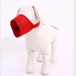 Huisdier leverancier hond snuit ademend nylon comfortabele zachte mesh verstelbaar huisdier Mondmasker voorkomen beet  grootte: 24cm (rood)