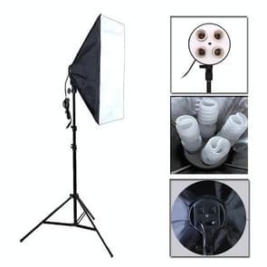 Foto Studio Softbox Kit (vier socket lamp houder + 50 X 70CM flash verlichting softbox + 2m licht stand)