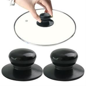 2 stuks universele pot deksel handvat Cap Hat RVS fitting (zwart)