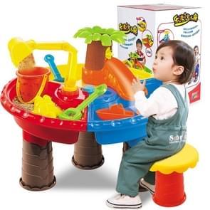 Outdoor zandstrand tafel speelgoed instellen voor kinderen (boom en ronde tafel)