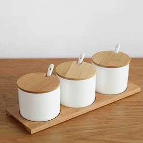 2 sets Simple Life creatieve keramiek keuken voedsel containers organisator potten voor specerijen suiker-Bowl kruiderij vak keuken opslag Bottl