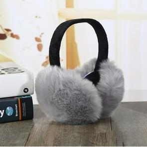 6PCSFaux Konijnenbont vrouwen comfortabele warme oor cover oor verstelbaar (grijs)