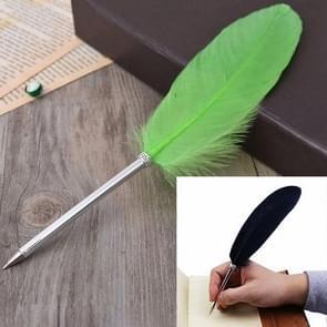 Struisvogel Feather Quill Ballpoint Pen Wedding Gift Office School Signature Pen  Lengte:26cm (Fruit Green)